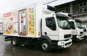 Брендинг корпоративного грузового авто
