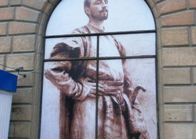 Оклейка фасада музея плёнкой