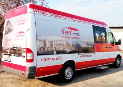 Интерьерная печать и брендирование грузового микроавтобуса